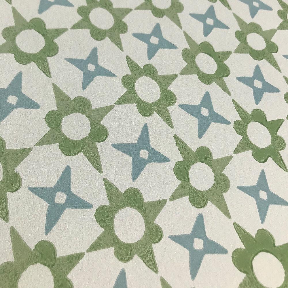 Tassi Wallpaper - Green - by Jane Churchill