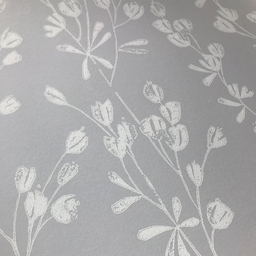 Ines Wallpaper - Grey - by Jane Churchill