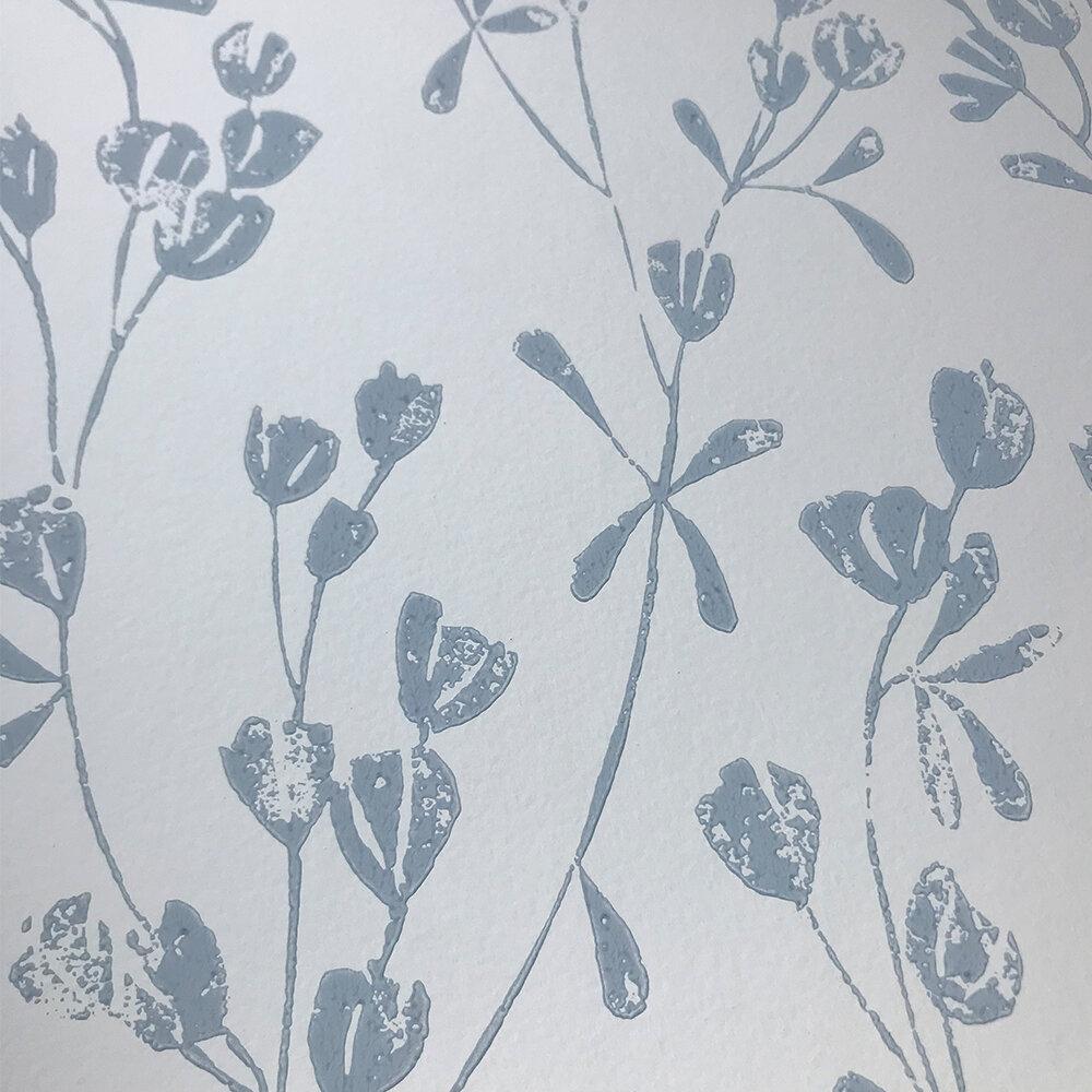 Ines Wallpaper - Cream/ Blue - by Jane Churchill