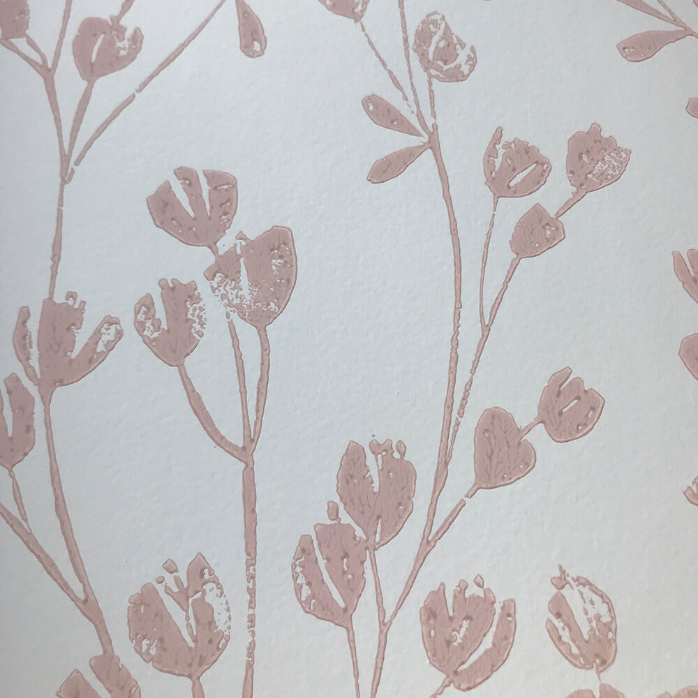 Ines Wallpaper - Pink - by Jane Churchill