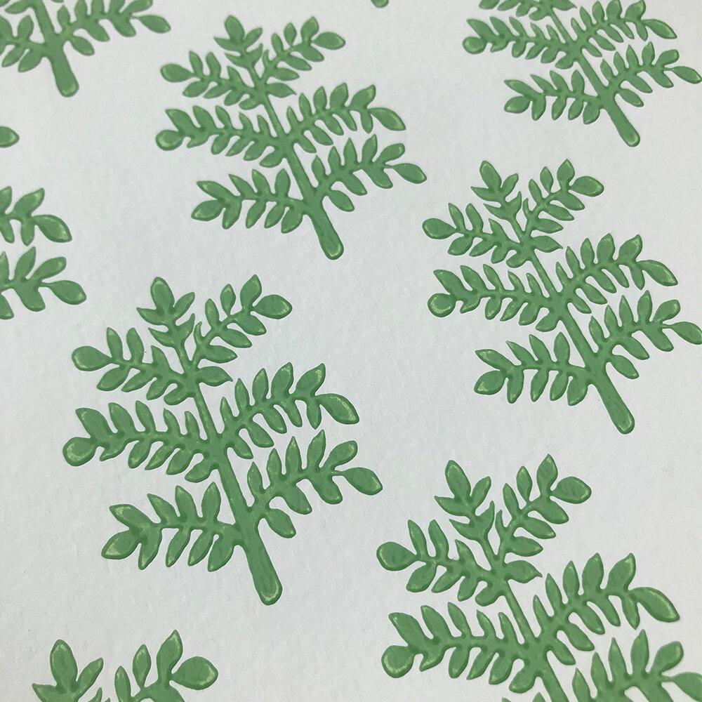 Rowan Wallpaper - Emerald - by Jane Churchill