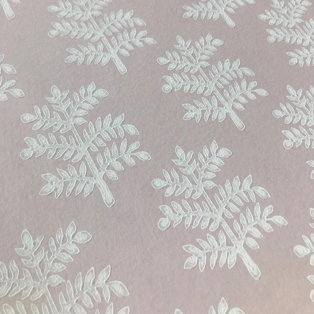 Rowan Wallpaper - Pink - by Jane Churchill