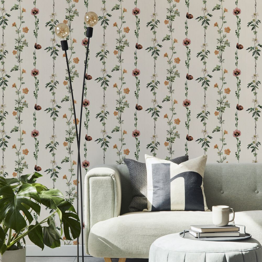 Climbing Flowers Wallpaper - Linen - by Coordonne