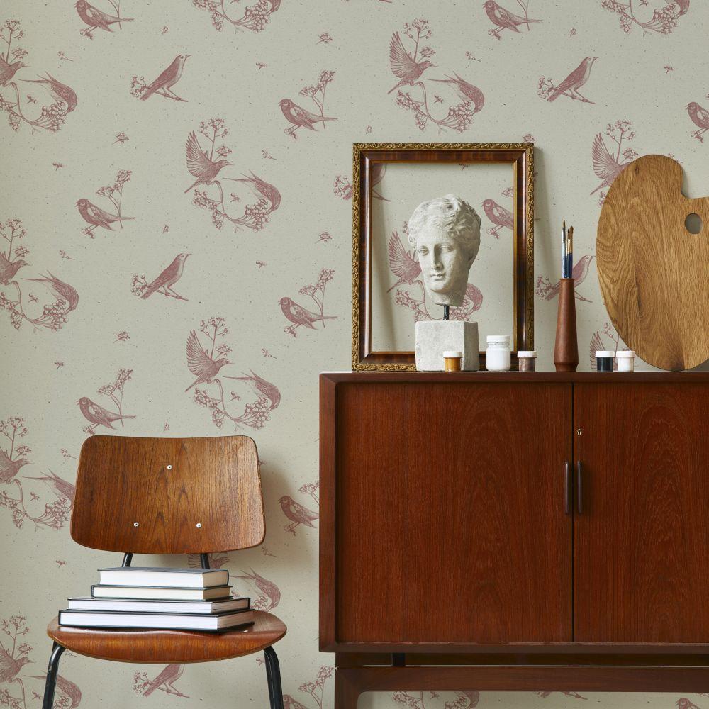 Sweet Birds Wallpaper - Papirus - by Coordonne