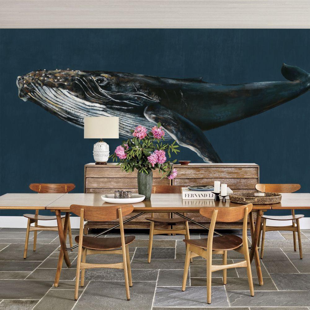 Humpback Whale Mural - Ocean - by Coordonne