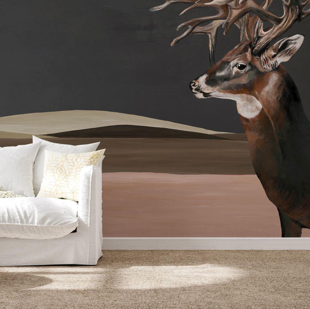 Great Deer Mural - Nude - by Coordonne