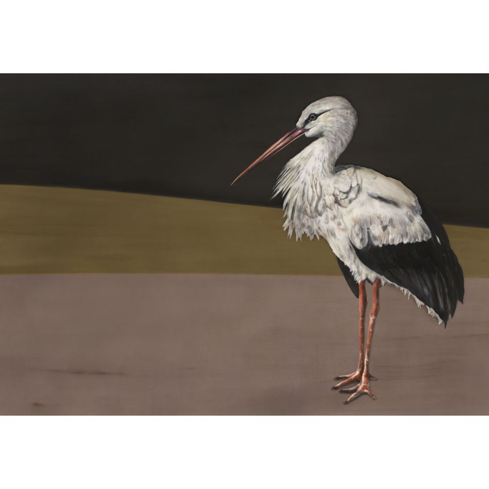 Stork Mother Mural - Black - by Coordonne