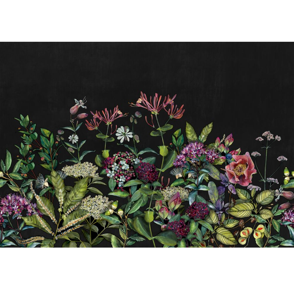 Wild Floral Mural - Night - by Coordonne