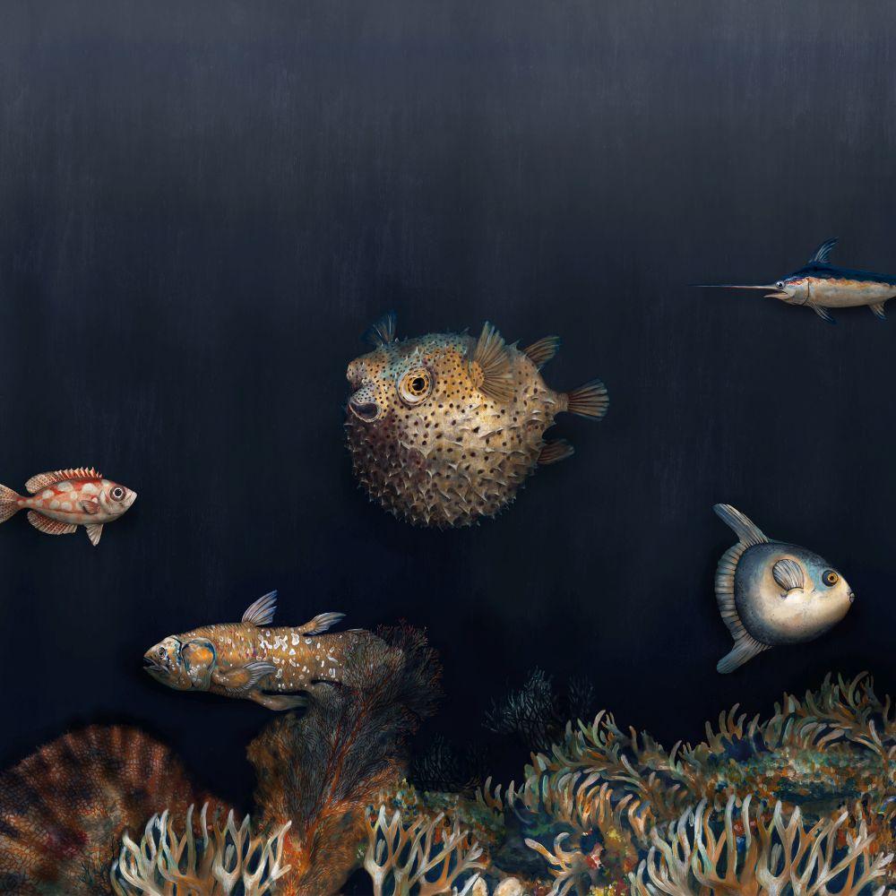 Deep Ocean Mural - Mediterranean - by Coordonne