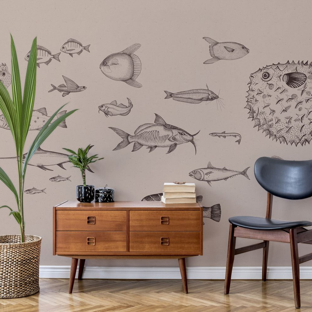 Sea Current Mural - Nude - by Coordonne