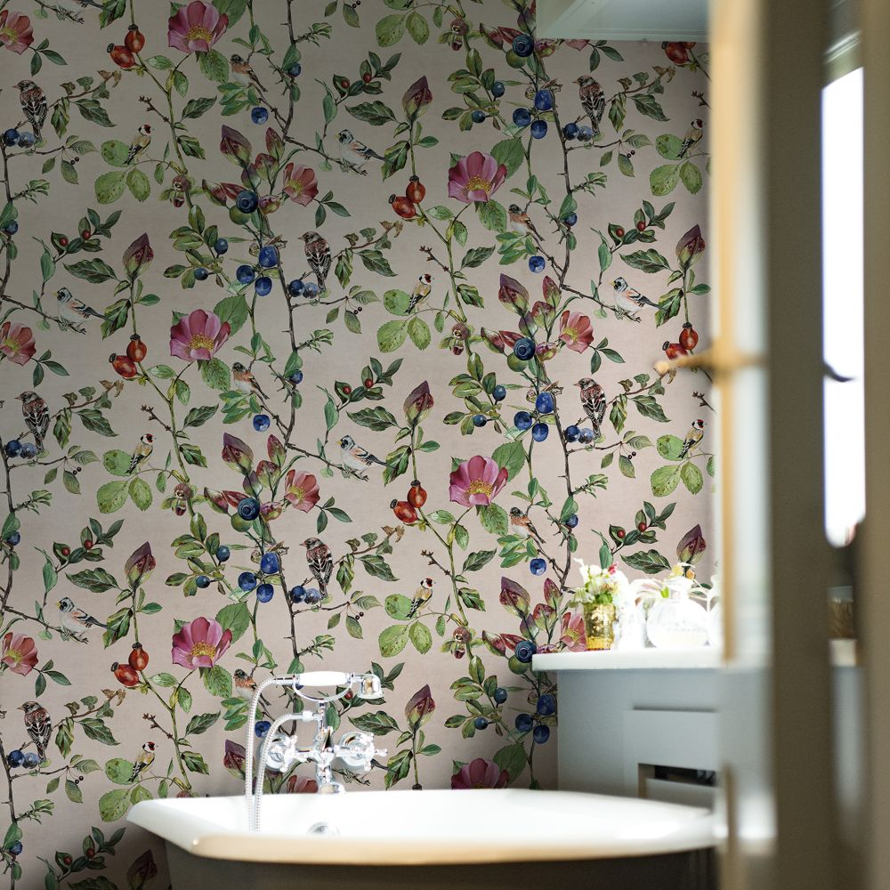 Goldfinch Song Wallpaper - Blush - by Coordonne