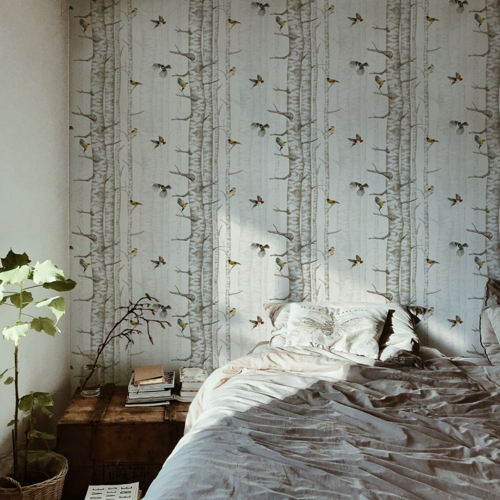 Birch Trees Wallpaper - Beige - by Coordonne