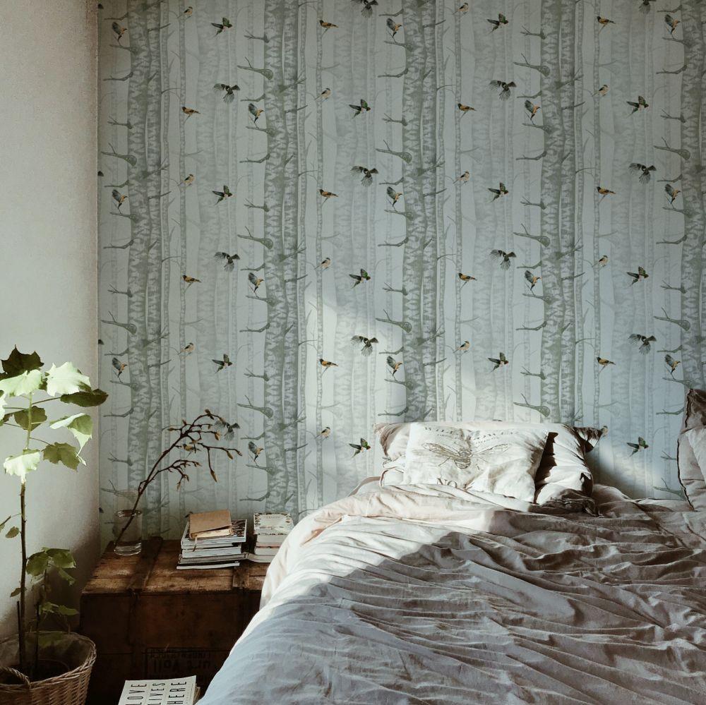 Birch Trees Wallpaper - Silvester - by Coordonne