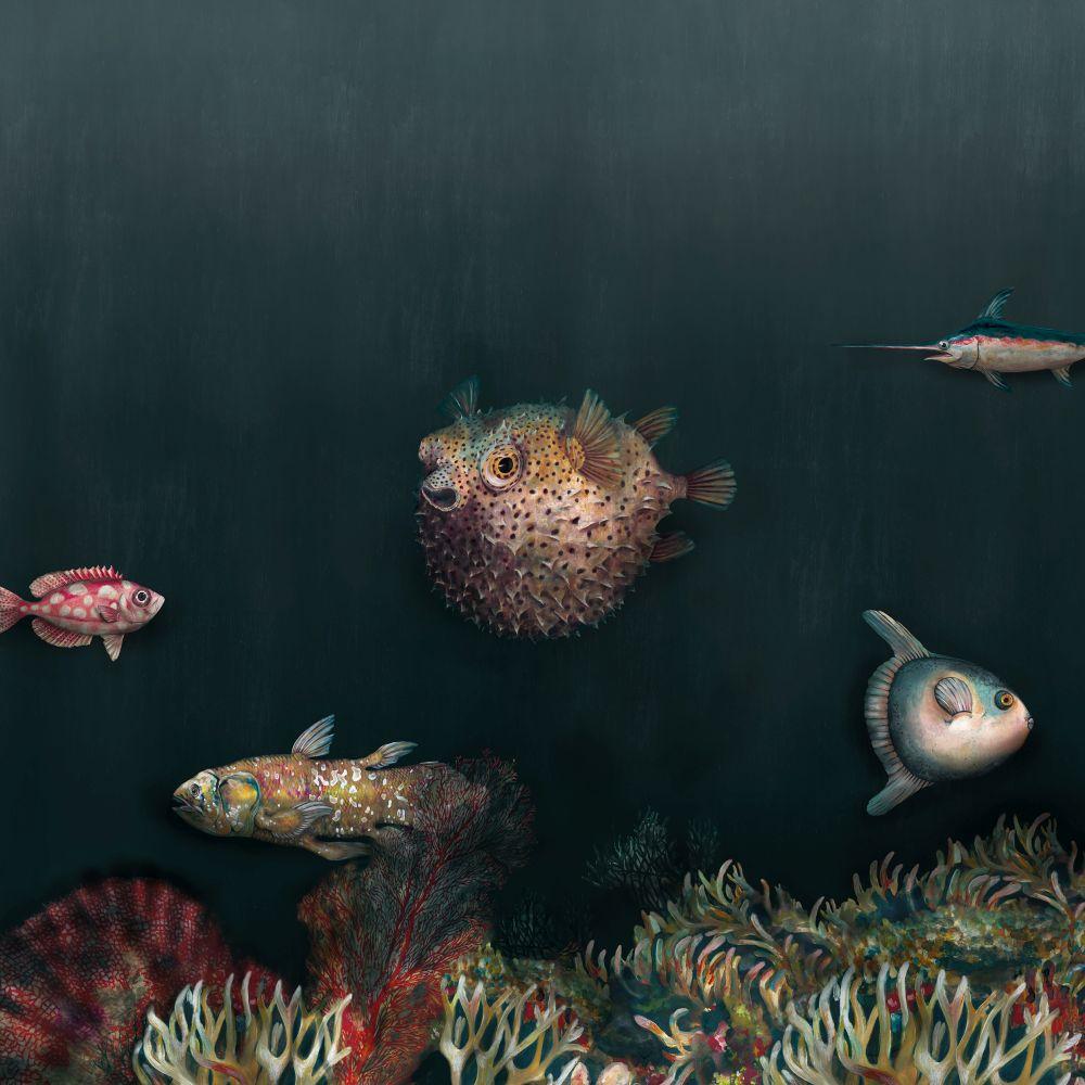 Deep Ocean Mural - Atlantic - by Coordonne
