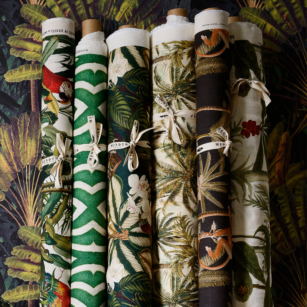 Madagascar Fabric - Green/ White/ Red - by Mind the Gap
