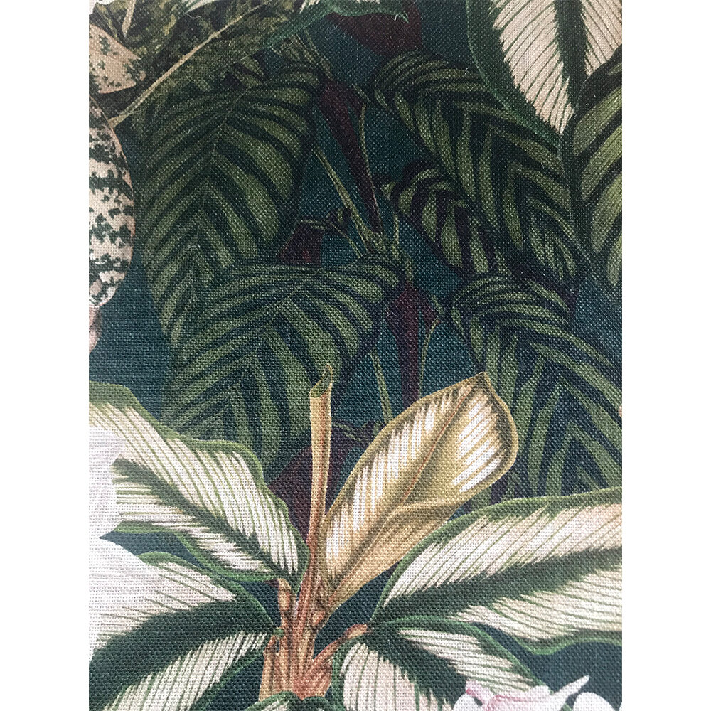 Orchid Bloom Fabric - Green/ Brown/ Taupe - by Mind the Gap
