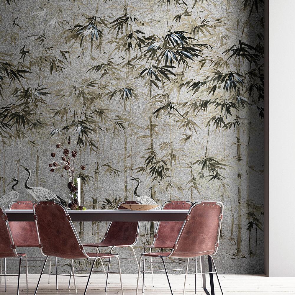 Garzas Mural - Silver - by Coordonne