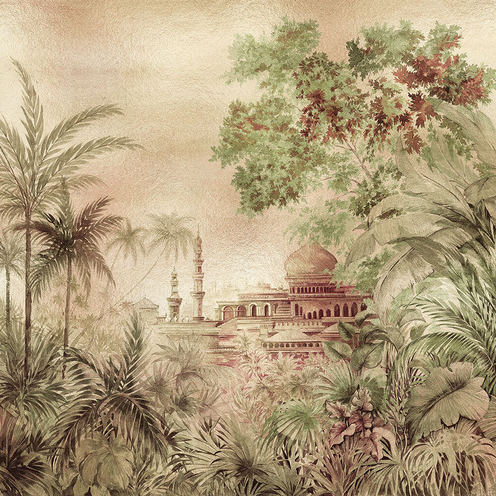 Taj Mahal Mural - Gold - by Coordonne