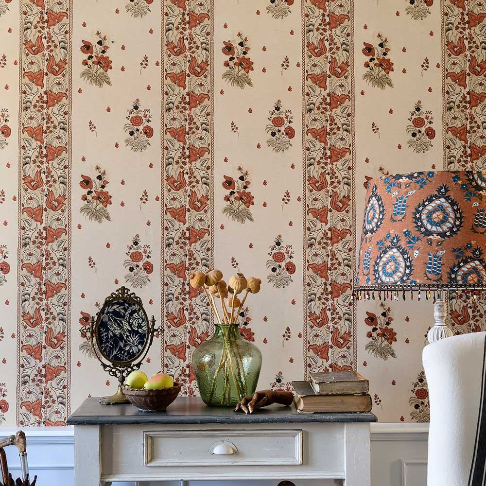 Korond Floral Wallpaper - Leather - by Mind the Gap