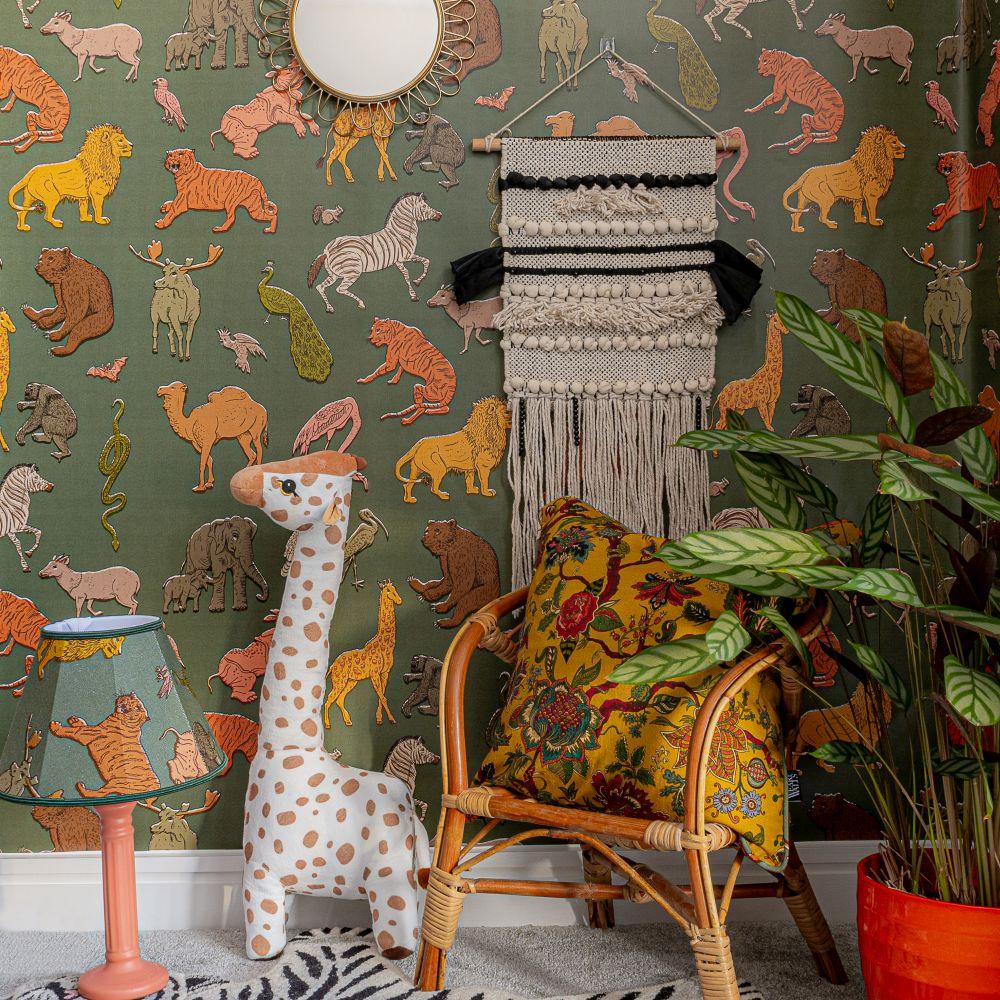 Assemble Wallpaper - Khaki - by Wear The Walls