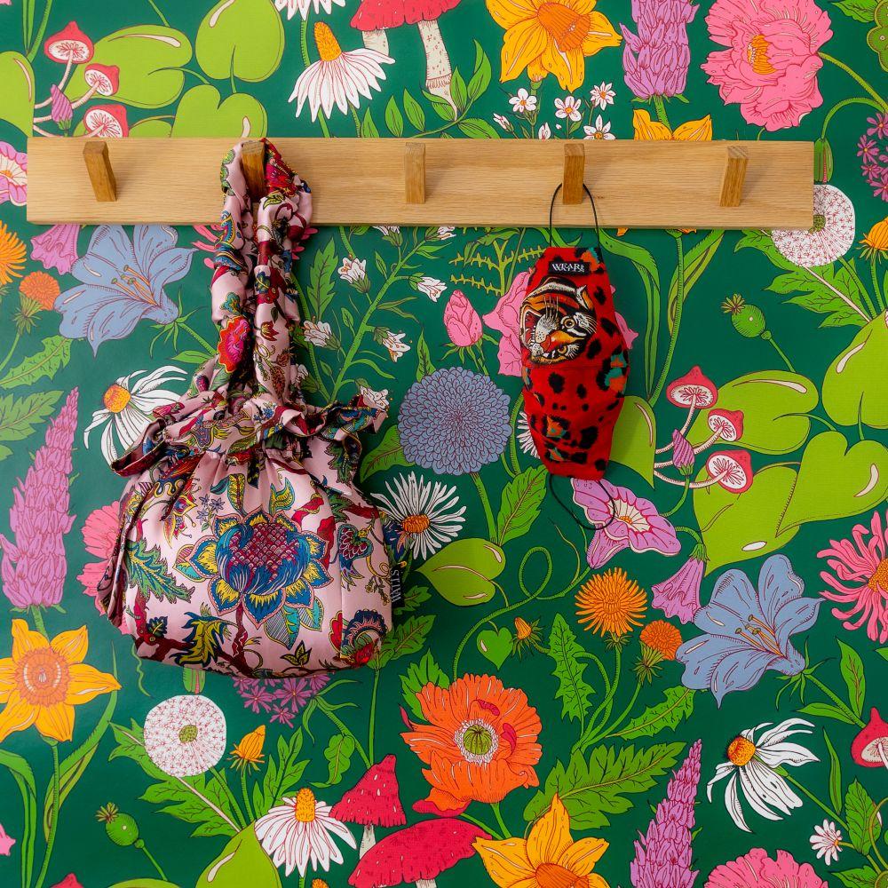 Bloom Wallpaper - Green - by Wear The Walls