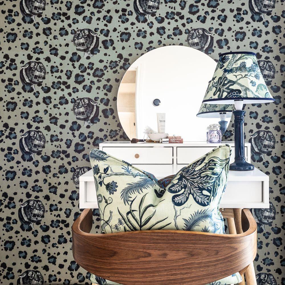 Bubastis Wallpaper - Seafoam - by Wear The Walls