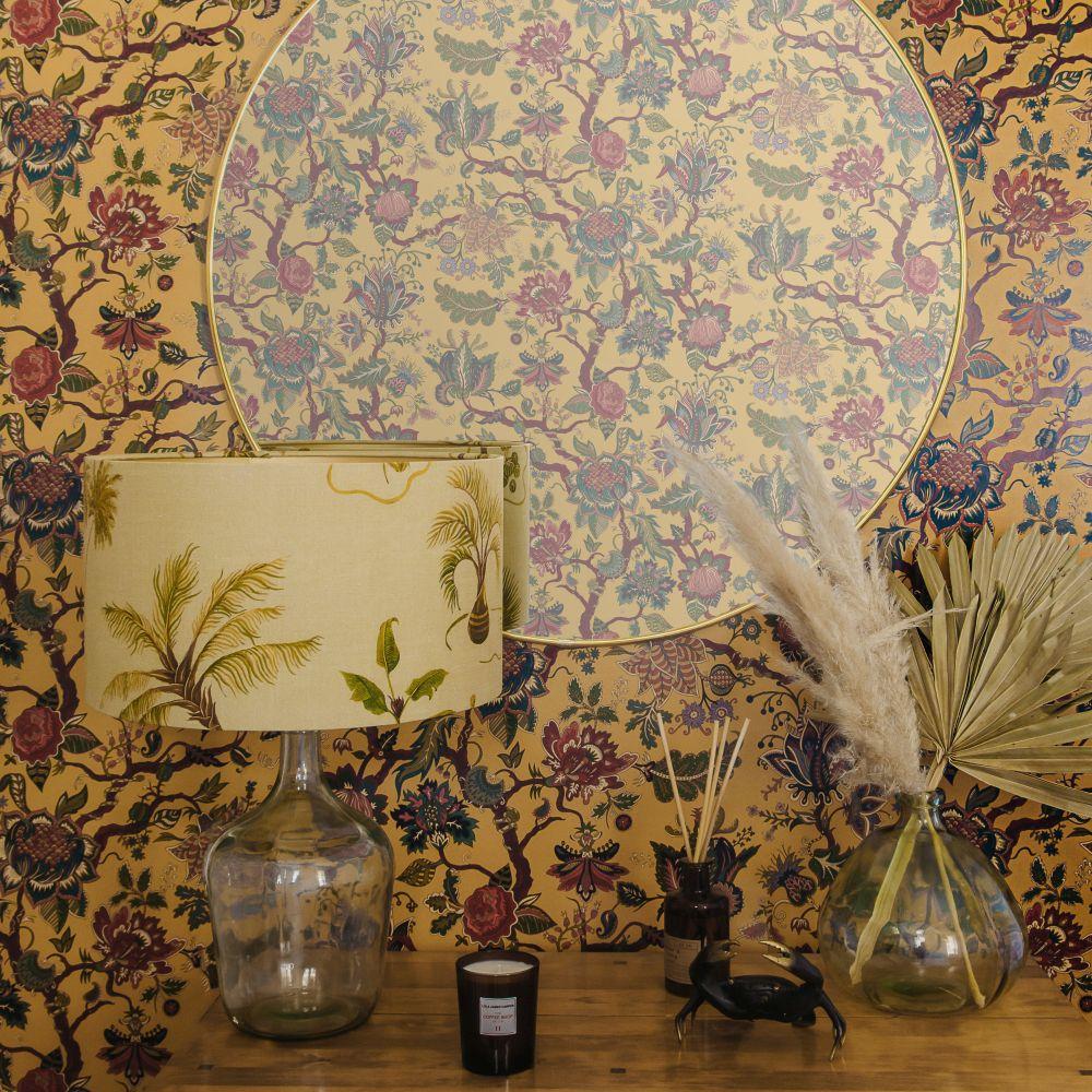 Eden Wallpaper - Mustard - by Wear The Walls