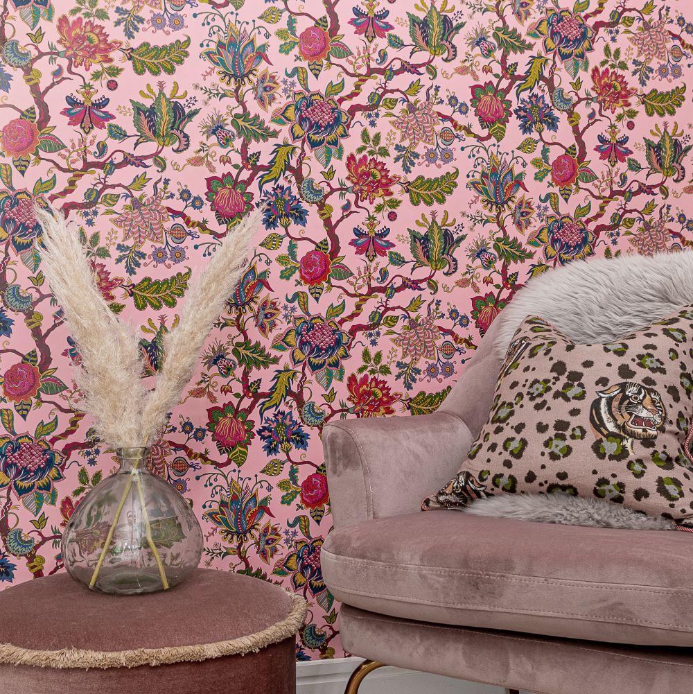 Eden Wallpaper - Pink - by Wear The Walls