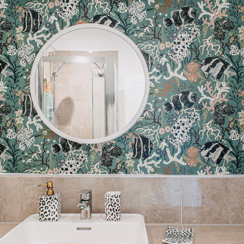 Neptune Wallpaper - Aquamarine - by Wear The Walls