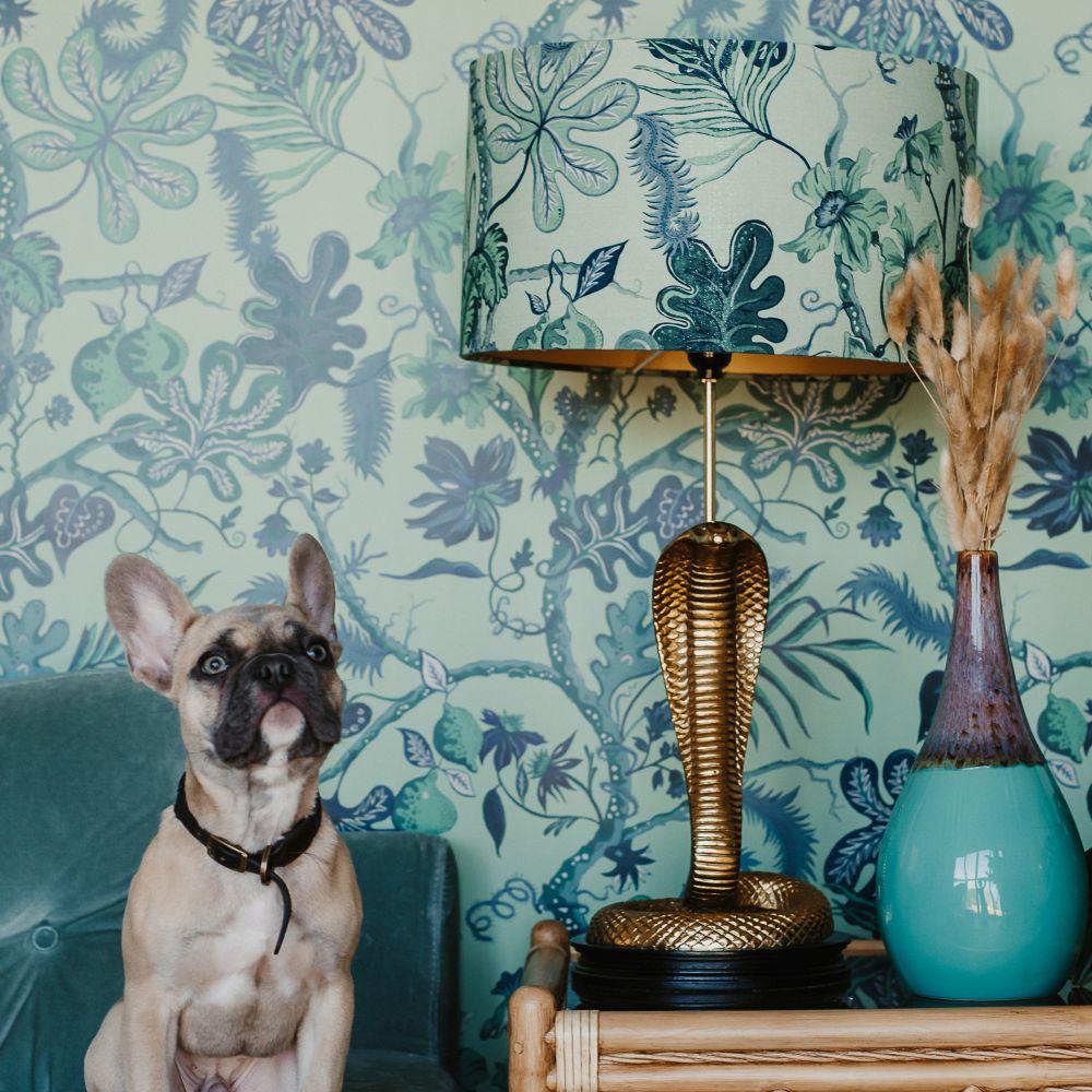 Ophelia Wallpaper - Green - by Wear The Walls