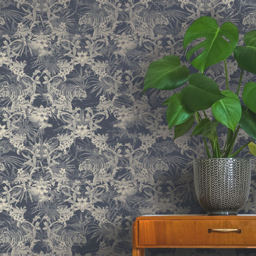 Kingdom Wallpaper - Slate - by Ted Baker