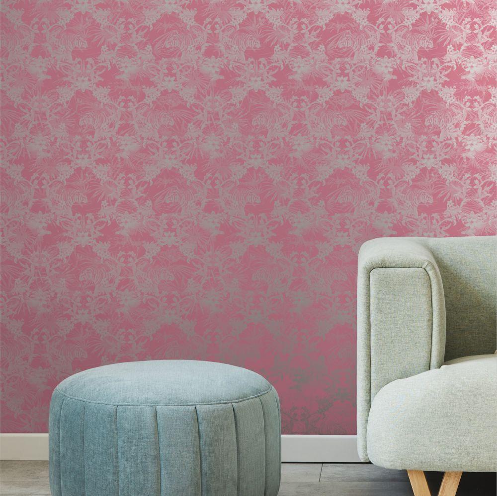 Kingdom Wallpaper - Pink - by Ted Baker