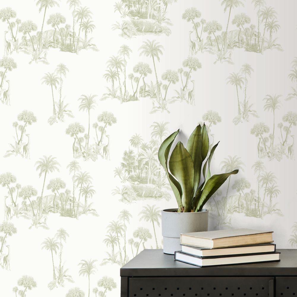 Laurel Wallpaper - Green - by Ted Baker