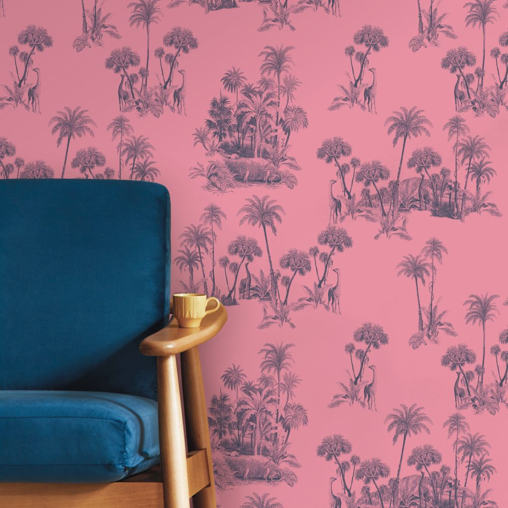 Laurel Wallpaper - Pink - by Ted Baker