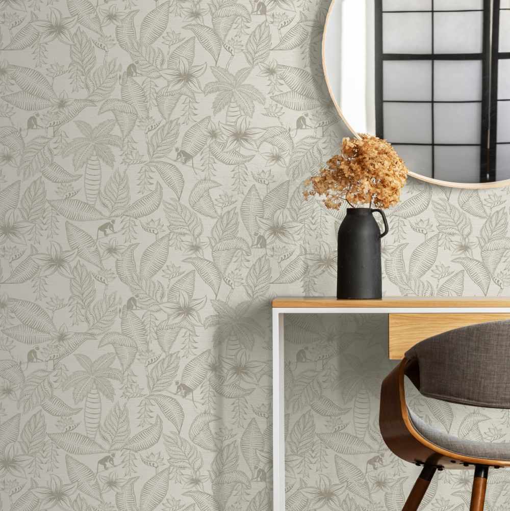 Monflo Wallpaper - Taupe - by Ted Baker