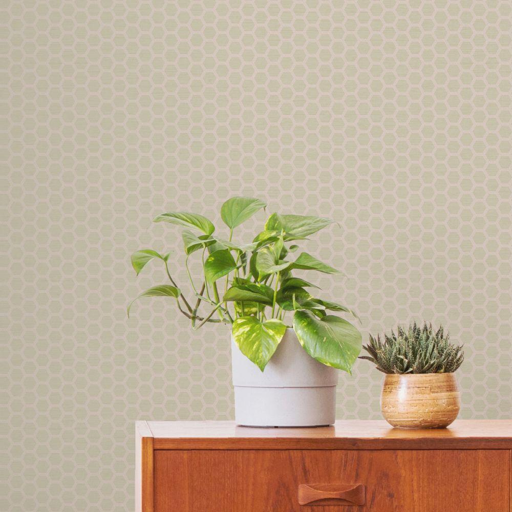 Hexie Wallpaper - Beige  - by Ted Baker