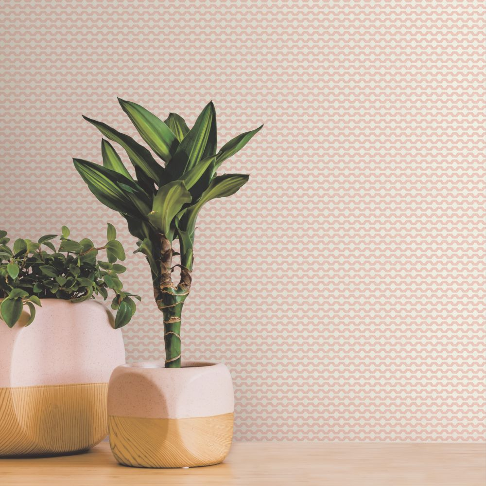 Mano Wallpaper - Blush - by Ted Baker