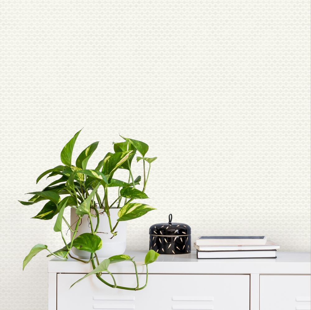 Mano Wallpaper - Cream - by Ted Baker