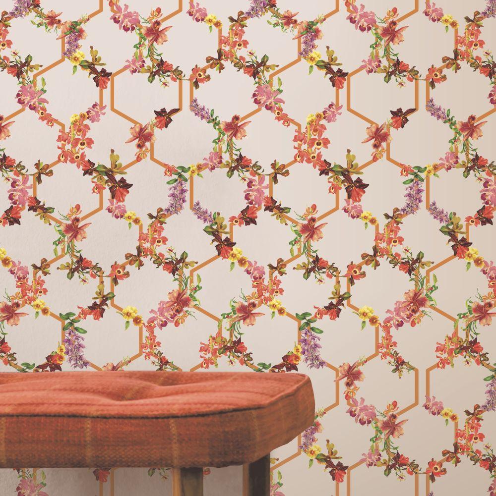 Lost Garden Trelise Wallpaper - Blush - by Ted Baker