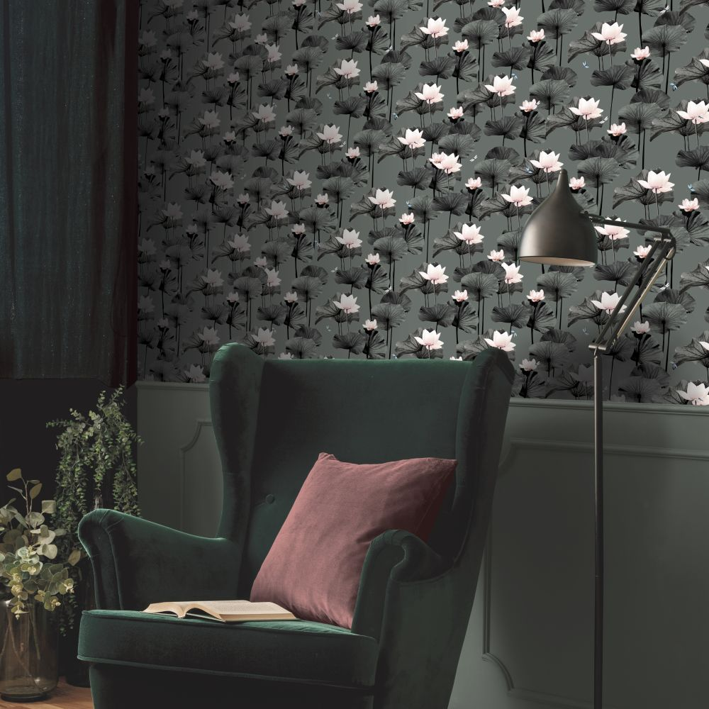 Drago Wallpaper - Green - by Ted Baker