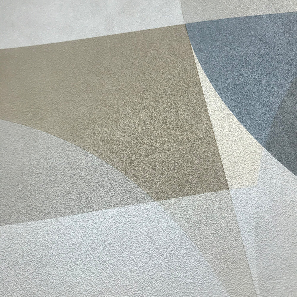 Geometric Circle Graphic Wallpaper - Mustard/ Grey/ Beige - by Galerie