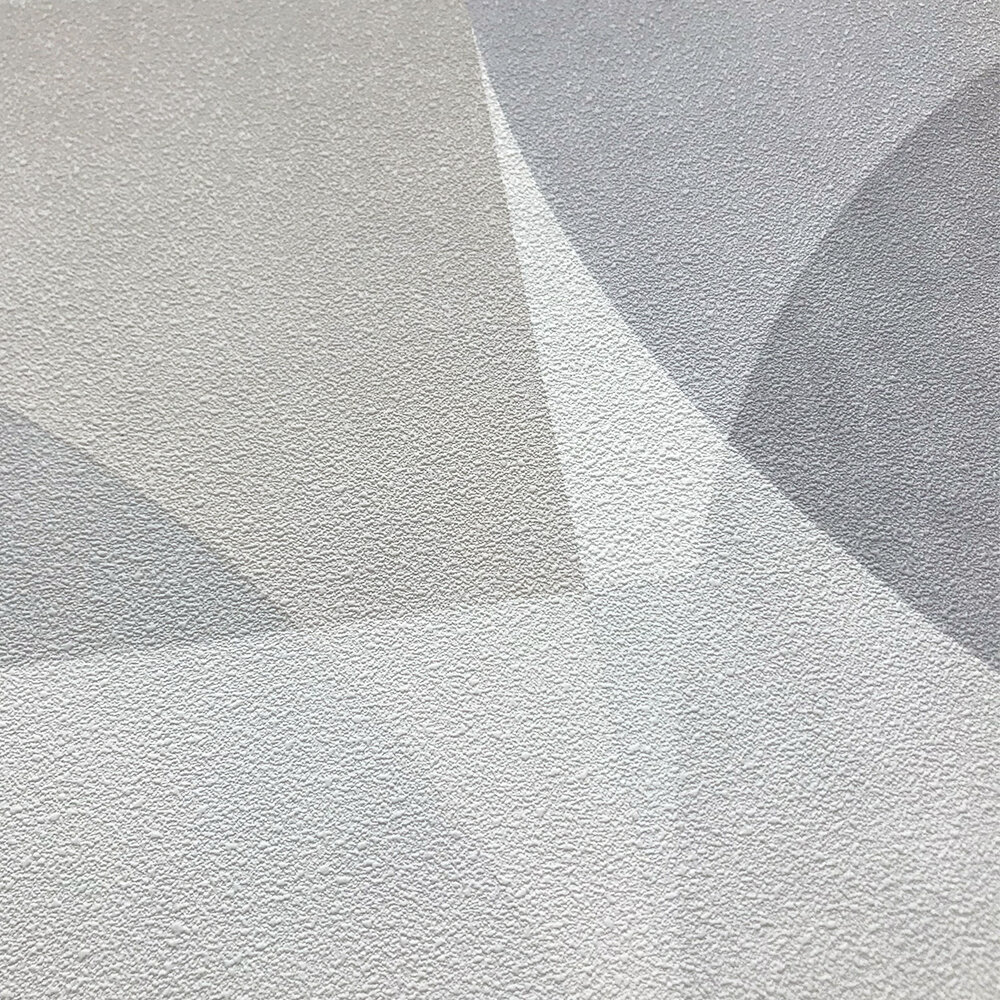 Geometric Circle Graphic Wallpaper - Light Grey/ Beige - by Galerie