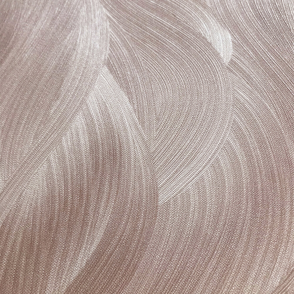 Wave Pattern Wallpaper - Blush Pink - by Galerie