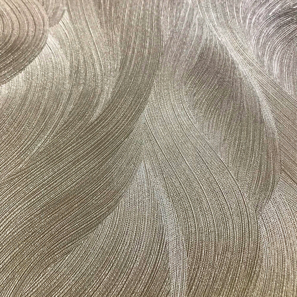 Wave Pattern Wallpaper - Gold - by Galerie
