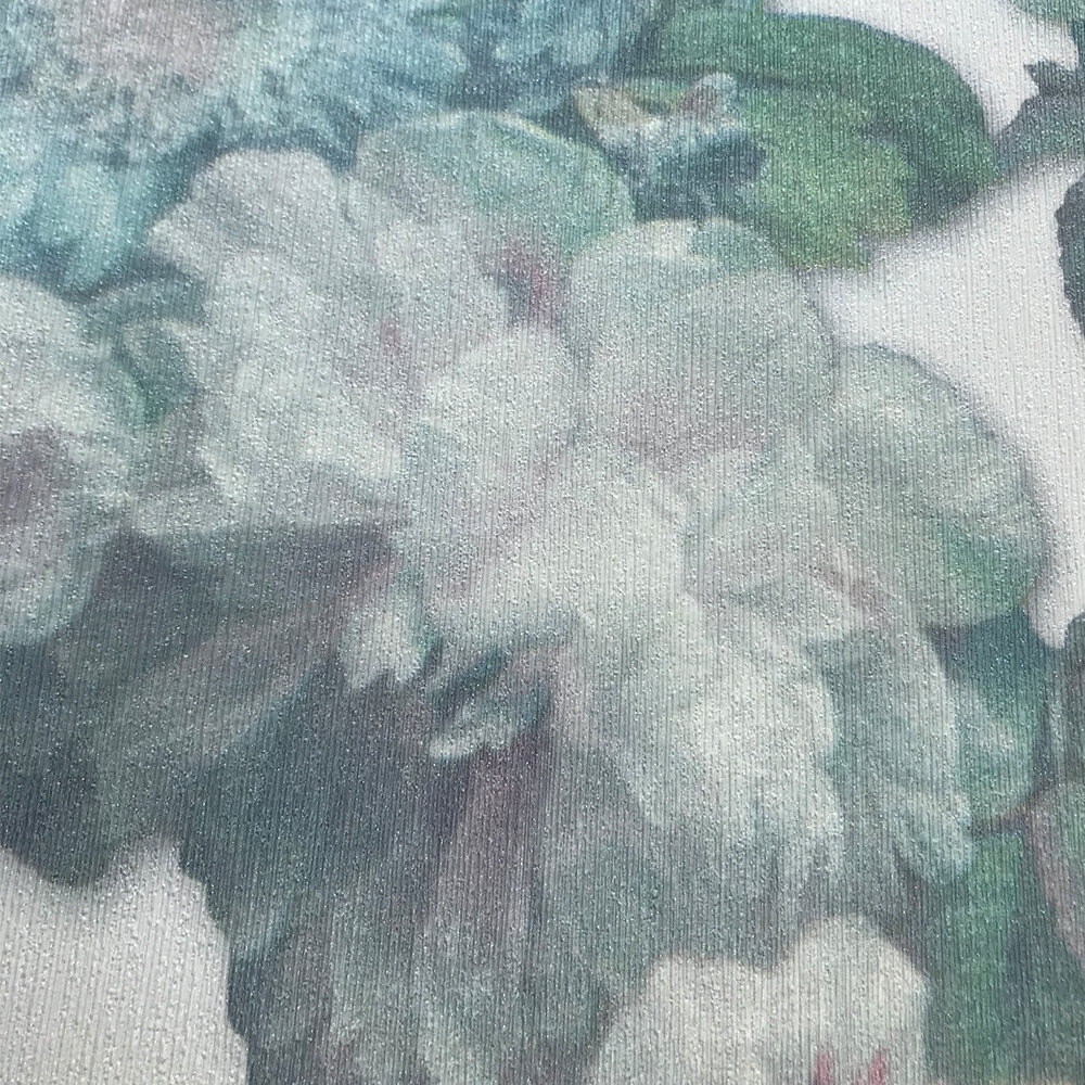Floral Baroque Wallpaper - Pink/ Green - by Galerie