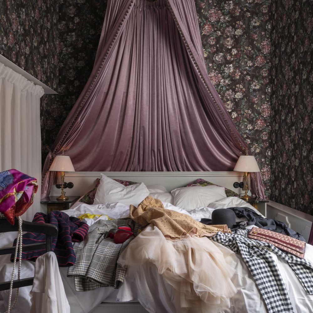 Jardin Wallpaper - Red Velvet - by Rebel Walls