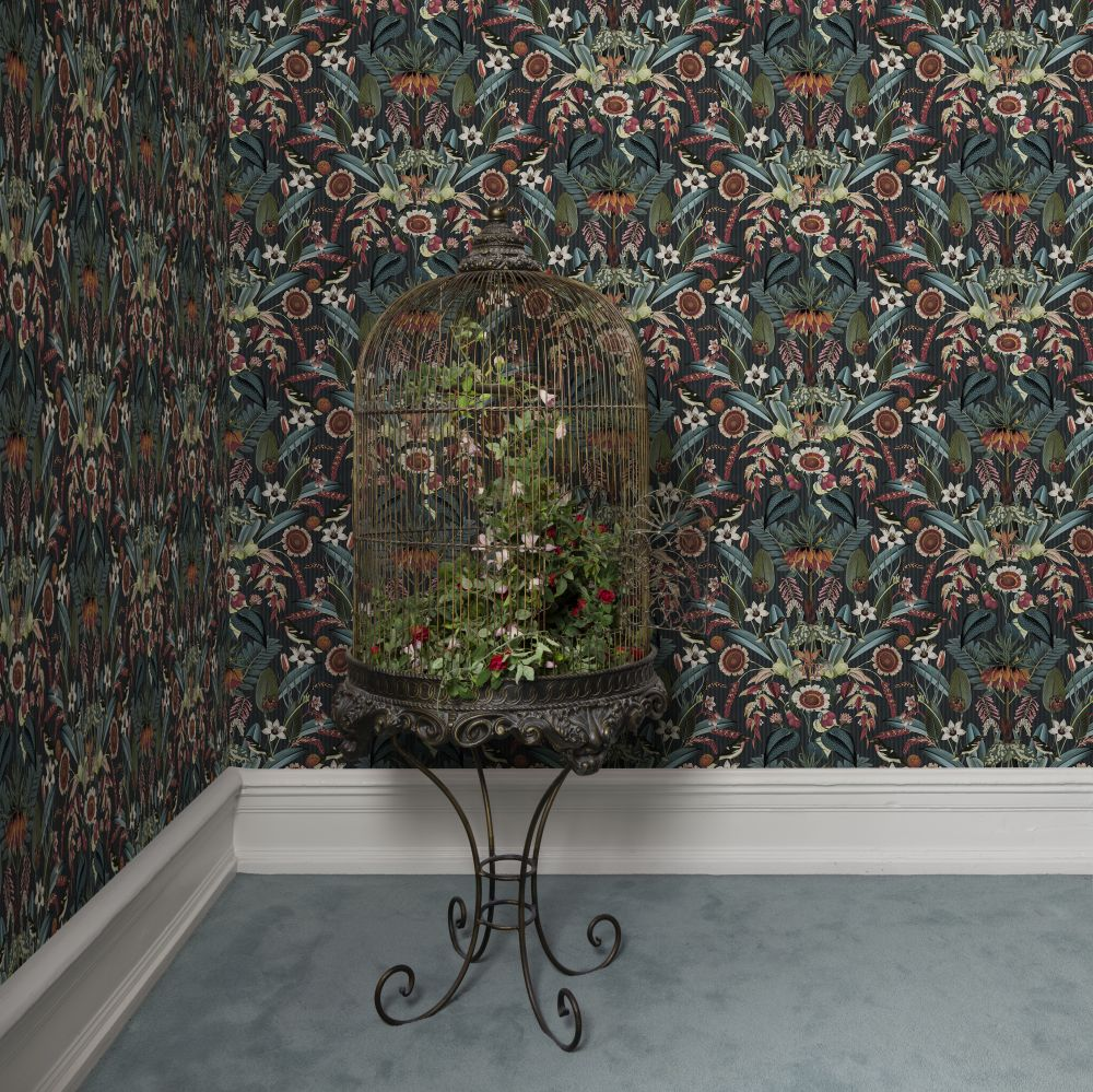 Arlon Wallpaper - Teal - by Rebel Walls