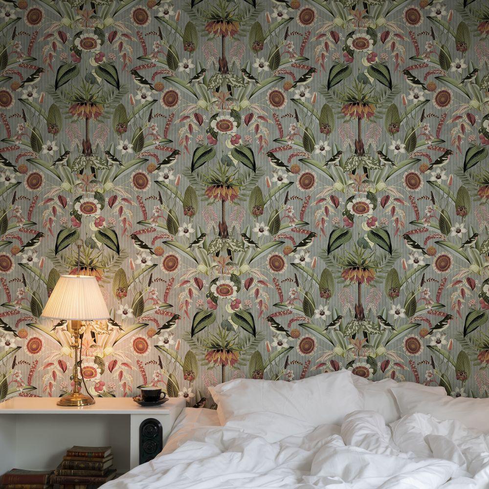 Arlon Wallpaper - Green - by Rebel Walls