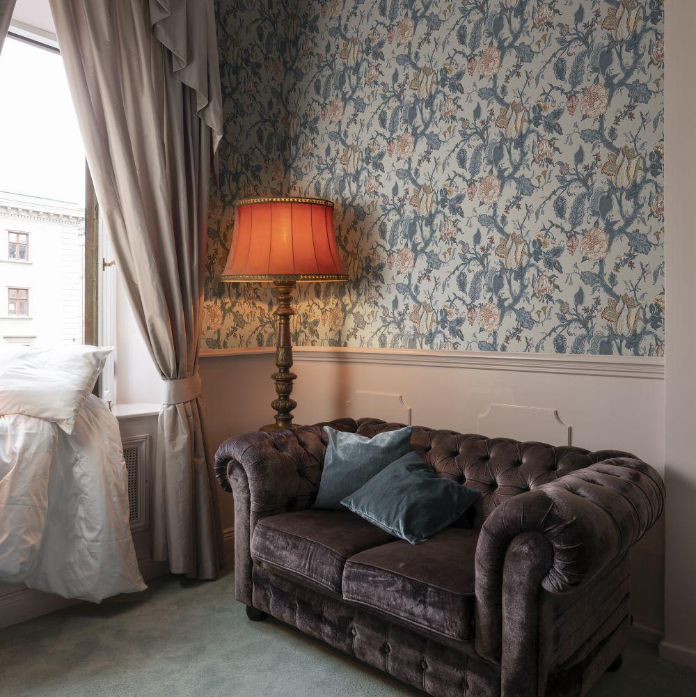 Carnaby Wallpaper - Slate - by Rebel Walls