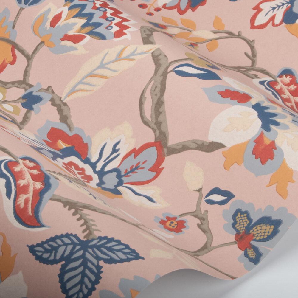 Amanpuri Wallpaper - Salmon / Dove Blue - by Sanderson